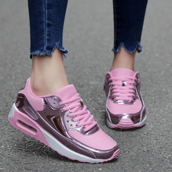 夏季運動女鞋2019新款韓版百搭透氣鞋子學生氣墊潮流旅游鞋女夏天