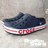 Crocs 洞洞鞋 深藍白底  紅字LOGO 男女(布魯克林) 2018/8月 2050894CC