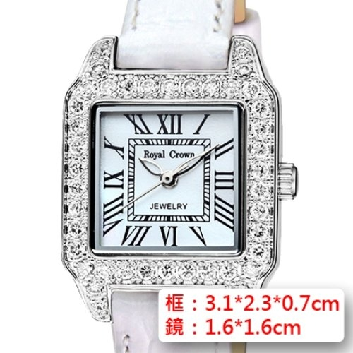 《Royal Crown》RC-6104M鑲鑚腕錶