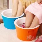 泡腳桶塑料保溫加厚足浴盆恒溫洗腳桶過小腿養生桶家用神器WD 小時光生活館