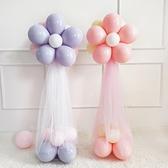 馬卡龍氣球立柱裝飾周年慶結婚禮生日宴開業場景布置【英賽德3C數碼館】