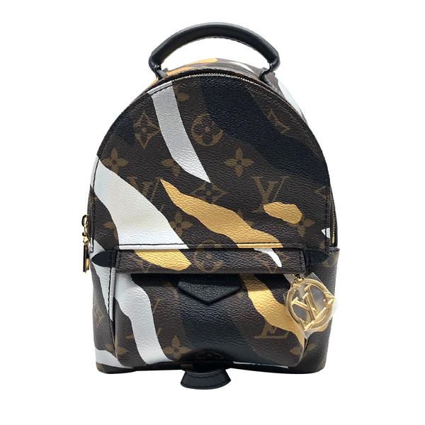 【台中米蘭站】全新品 Louis Vuitton LVXLOL Palm Springs Mini 聯名後背包(咖)