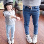 女童長褲 女童牛仔褲褲子春秋2韓版兒童修身鉛筆褲8歲女寶寶長褲小腳褲【米蘭街頭】