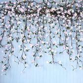 仿真玉蘭花塑料藤蔓植物客廳室內水管道空調裝飾假花藤條纏繞櫥窗 港仔會社
