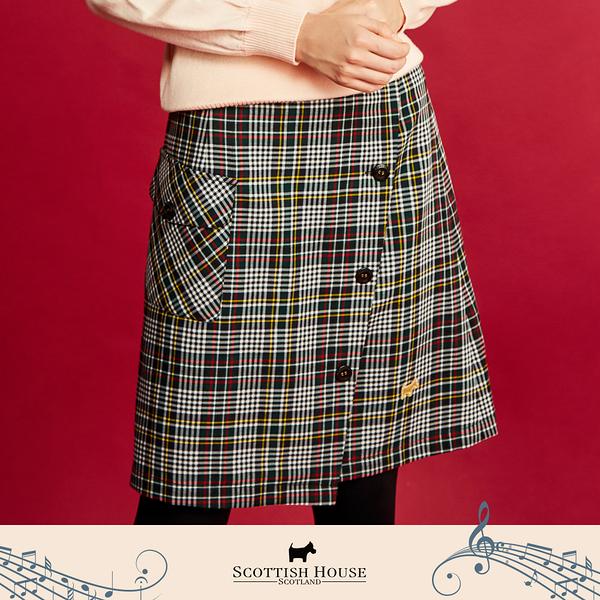 【Scottish House】 平口 格紋 一片式及膝裙 (AN2112)