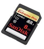 【晶豪泰】SanDisk Extreme PRO SDHC 8G 95mb/s UHS-1 高速記憶卡 公司貨 終身保固