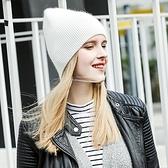 針織毛帽-純色條紋直筒經典羊毛女帽子5色73wr18[巴黎精品]