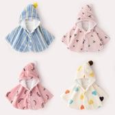 寶寶外出斗篷女3珊瑚絨洋氣兒童防風外套加絨1歲嬰兒披風