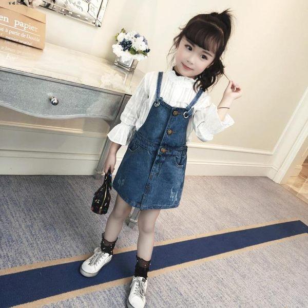 時尚小女孩牛仔裙子兒童背帶裙  百姓公館