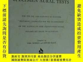 二手書博民逛書店英文原版Specimen罕見Aural Tests for th