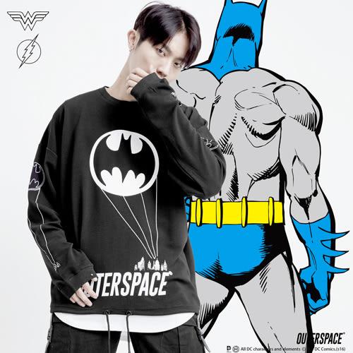 OUTER SPACE X DC正義聯盟-呼叫蝙蝠俠抽繩大學T(台灣限定)