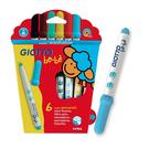 【義大利 GIOTTO BEBE 彩繪系列】可洗式寶寶彩色筆/可洗彩色筆(6色) 466600