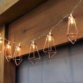 新品玫瑰金馬甲石水滴LED彩燈閃燈串燈戶外陽台房間裝飾燈【全網最低價省錢大促】