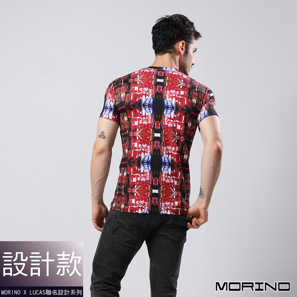 【MORINOxLUCAS設計師聯名】速乾涼爽短袖衫 紅色