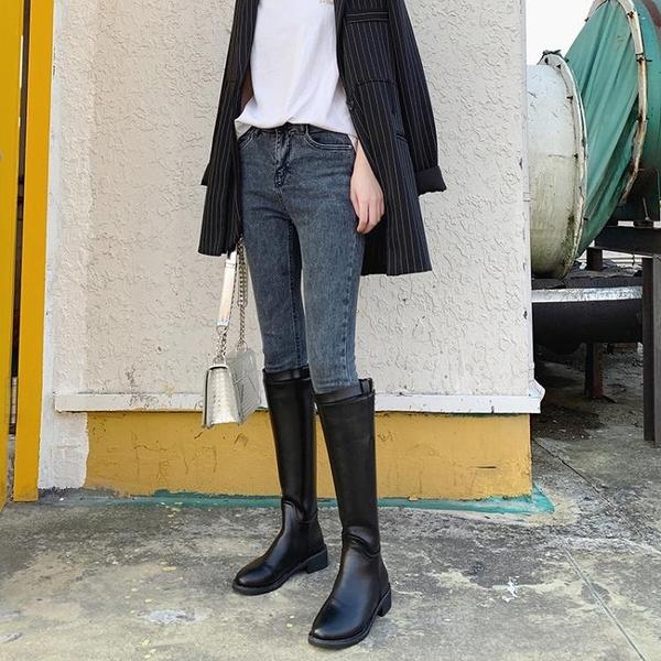 靴子女秋季小個子長靴女過膝網紅長筒皮靴騎士靴高筒馬靴 交換禮物