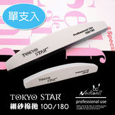 【台灣品牌TOKYO STAR】 灰色 細砂海綿拋 雙面海綿挫 甲面拋磨 修甲 砂條 搓條 拋條 NailsMall