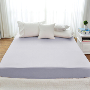 Cozy inn極致純色-300織精梳棉床包-加大(多款顏色任選)時尚紫