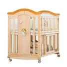 ~嬰兒床實木拼接大床多功能可折疊搖籃床~...