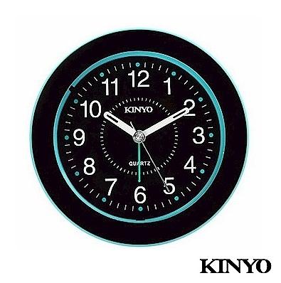 【超人生活百貨】KINYO 時尚圓型靜音掃描鬧鐘 TB-716 可愛造型 百搭配置 貼心小夜燈設計