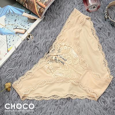 Choco Shop-失戀巧克力‧萊卡高質感透膚內褲(膚色) S~L