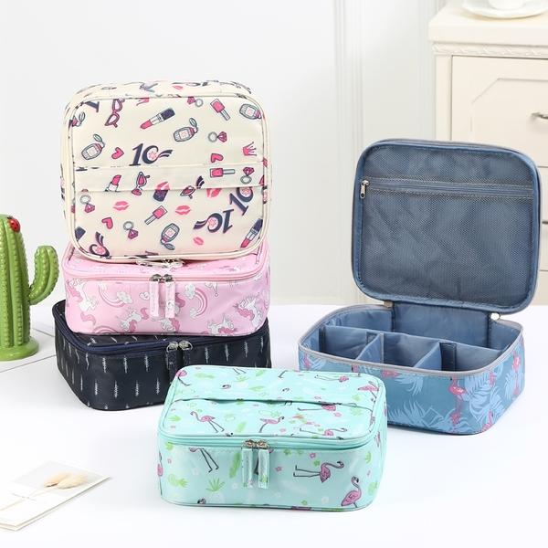 手提化妝包 化妝包 化妝箱 手提包 防潑水 小物包 盥洗包 多功能 收納包 大容量 雜物【歐妮小舖】
