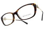 BVLGARI 光學眼鏡 BG4145BF 504 (琥珀-金) 浪漫小花設計款 平光鏡框 # 金橘眼鏡