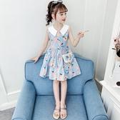 女童洋裝 女童連身裙夏裝兒童裙子夏款純棉洋氣公主裙小女孩潮-Ballet朵朵