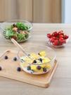 甜品碗 透明玻璃碗沙拉碗家用餐具湯碗創意甜品碗耐熱大碗泡面碗水果盤子【快速出貨八折下殺】