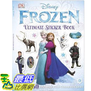 【103 美國直購】2014 美國銷書榜單 冰雪奇緣 Ultimate Sticker Book: Frozen (Ultimate Sticker Books)  $488