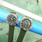 SEIKO 精工 / 4R35-04L0G.V131-0AM0G / PROSPEX 鮪魚罐頭 矽膠手錶 情人對錶 墨綠色 43mm+39mm