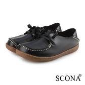 SCONA 蘇格南 全真皮 手工2way休閒鞋 黑色 7336-1