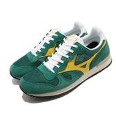 Mizuno 休閒鞋 Sports Style 綠 黃 男鞋 麂皮鞋面 復古慢跑鞋 運動鞋 【PUMP306】 D1GA1905-32