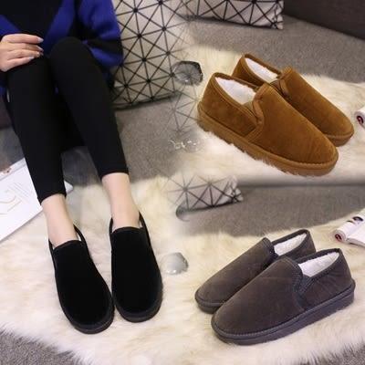 低筒雪靴-時尚潮流簡約百搭女厚底靴子3色73kg26【巴黎精品】