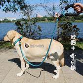 牽引繩舒適脖圈牽引繩可調節幼犬金毛拉布拉多小中大型犬狗鍊帶狗項圈