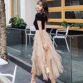 輕盈舞動法式花瓣領夢幻飄逸連身裙洋裝~謝師宴服飾/宴會/活動主持[98779-QF]美之札