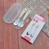 兒童勺子叉子套裝不銹鋼寶寶吃飯家用便攜卡通叉勺餐具   LannaS