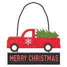 聖誕 裝飾 佈置 金蔥吊飾1入-聖誕卡車...