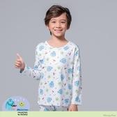【WIWI】冰雪怪獸溫灸刷毛圓領發熱衣(純淨白 童100-150)