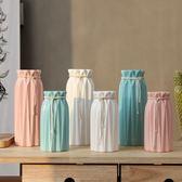 花瓶 小清新陶瓷白色水培花瓶透明玻璃花器插干花北歐家居裝飾客廳擺件 igo 歐萊爾藝術館