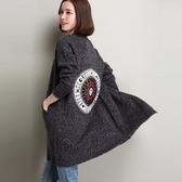 長版針織外套-羊毛長袖寬鬆中長款加厚女毛衣外套72ak23[巴黎精品]