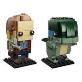 樂高積木LEGO BrickHeadz系列  41614 侏羅紀世界 歐文&小藍