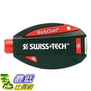 [美國直購] Swiss+Tech ST81005 破窗割安全帶 緊急自救 救援鑰匙圈 Black 5合1 BodyGuard Auto Emergency Escape Tool
