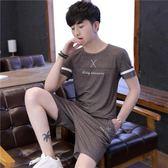 男運動套裝夏裝新款時尚 休閒透氣潮流五分短褲薄款圓領短袖t恤 FR8207『俏美人大尺碼』