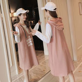 孕婦秋裝洋裝2019新款中長款潮媽寬鬆時尚連帽帽T裙子兩件套裝