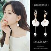 耳環 顯臉瘦的耳環女氣質韓國個性百搭長款流蘇耳墜夸張耳飾品純銀耳釘 城市科技