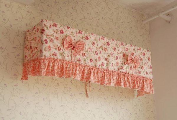 [超豐國際]空調罩半包空調蓋巾 田園棉空調防塵罩 全包掛式空