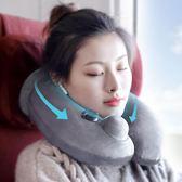 充氣枕-便攜長途旅行飛機充氣u型枕護頸枕u形枕脖子頸椎枕頭坐車睡覺靠枕