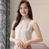 2020夏新款韩版雪纺吊带背心女衬衣外穿气质内搭短款无袖挂脖上衣