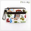 零錢包 包包 防水包 雨朵小舖U035-486 二拉小零錢包-白貓頭鷹草02139 funbaobao