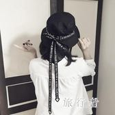 漁夫帽 飄帶文藝女夏韓版學生帽休閒盆帽戶外遮陽帽潮 BF7862【旅行者】